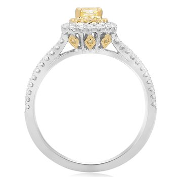 Oval Split Shank Diamond Ring