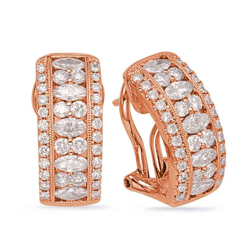 Briana Rose Gold Diamond Earring