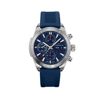 Adventure Sport Chrono Day/Date 41 Blue Dial Blue Rubber Strap
