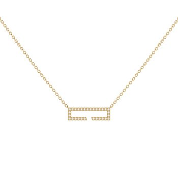 Swing Necklace in 14 KT Yellow Gold Vermeil on Sterling Silver
