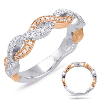 White & Rose Gold Matching Band