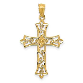 14k Yellow Gold Cross Pendant