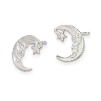 Sterling Silver Moon Mini Earrings