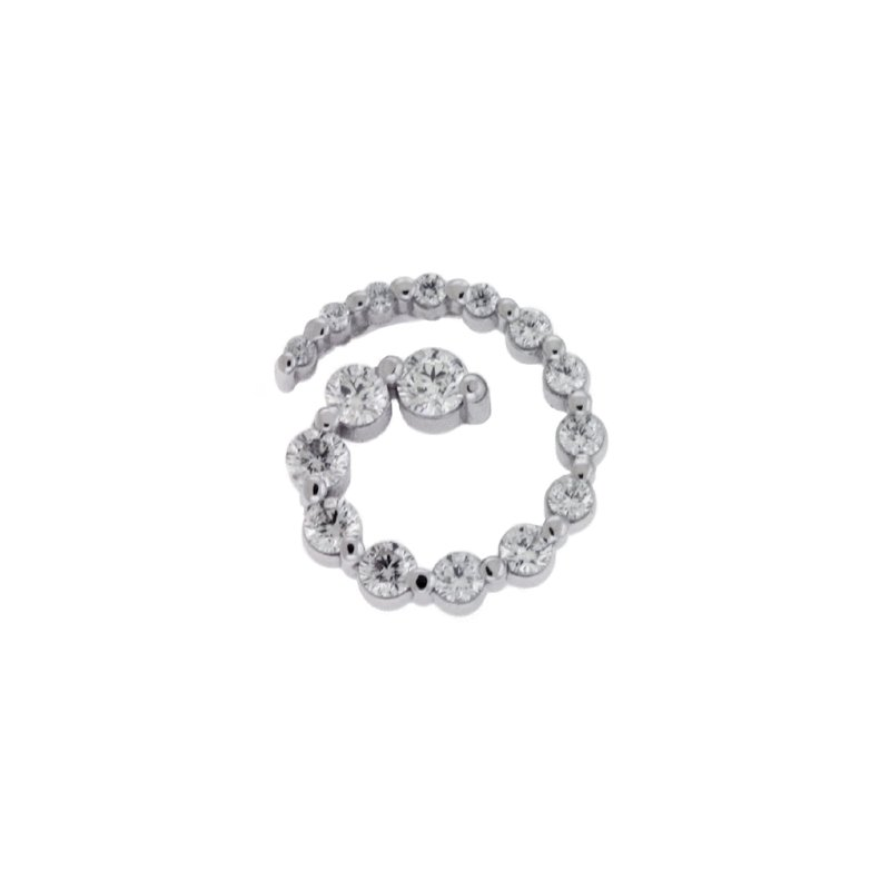 S. Kashi  & Sons White Gold Journey Charm