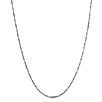 Leslie's 14K White Gold 1.5 mm Franco Chain