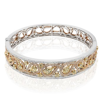 Paisley Diamond Bangle