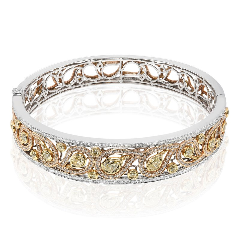 Roman & Jules Paisley Diamond Bangle