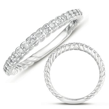 White Gold Rope Band