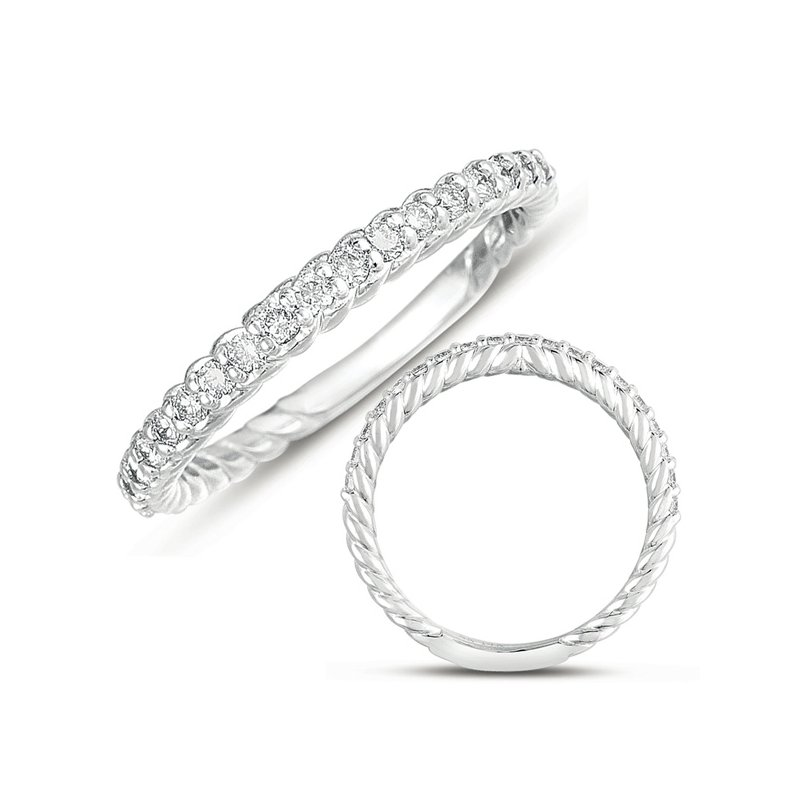 S. Kashi & Sons Bridal White Gold Rope Band