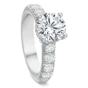 18K White gold Semi Mount for2.00-3.00 ct center