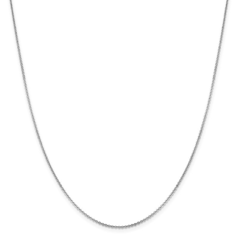 Leslie's Leslie's 14K White Gold 1.4 mm Flat Cable Chain