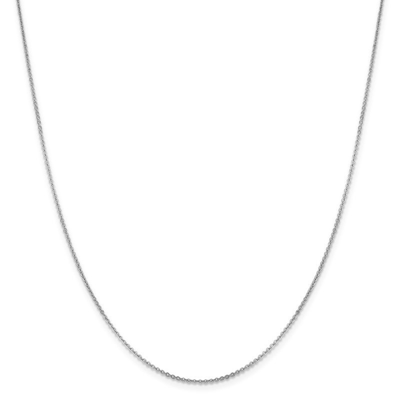 Leslie's 14K White Gold 1.4 mm Flat Cable Chain