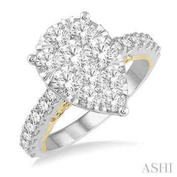 pear shape lovebright bridal diamond engagement ring