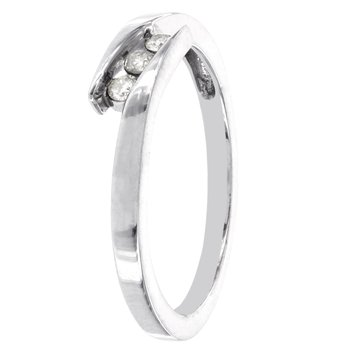 Sterling Silver 1/10ct TDW Diamond Accent Ring