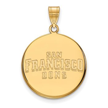 Gold University of San Francisco NCAA Pendant