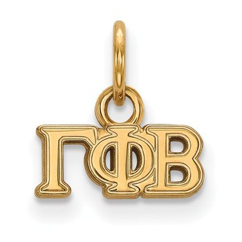 Gold-Plated Sterling Silver Gamma Phi Beta Greek Life Pendant