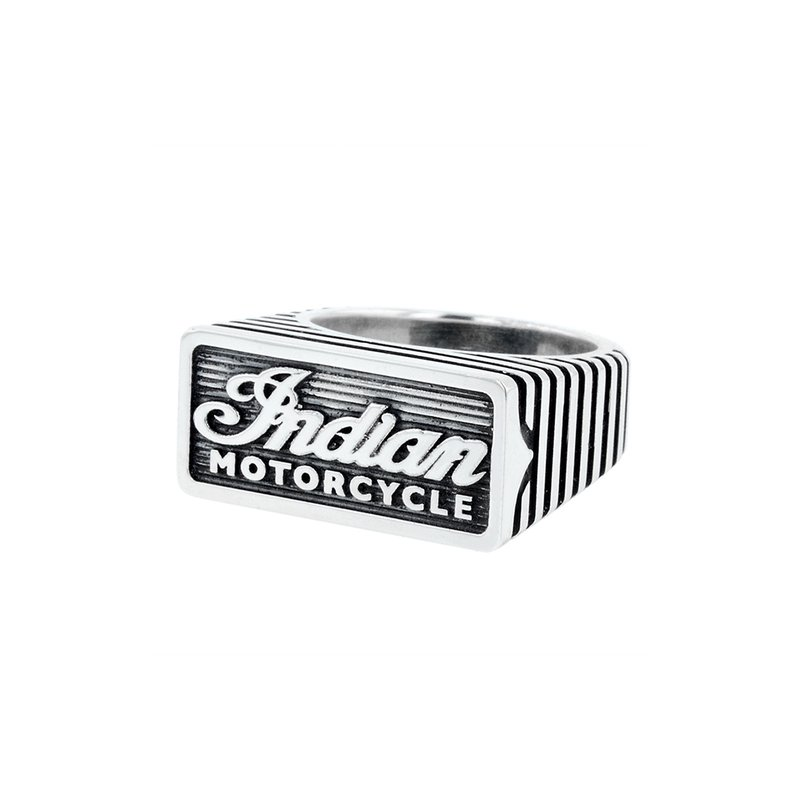 King Baby Indian Script Motor Fin Silver Ring