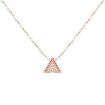 Skyscraper Triangle Necklace in 14 KT Rose Gold Vermeil on Sterling Silver