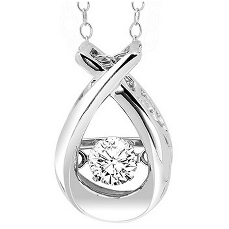 Rhythm of Love 14K Diamond Rhythm Of Love Pendant 1/4 ctw