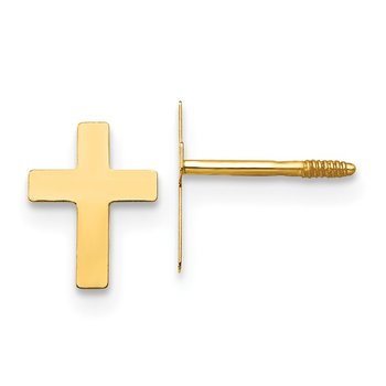 14k Madi K Cross Earrings