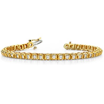 Tube Setting Tennis Bracelet