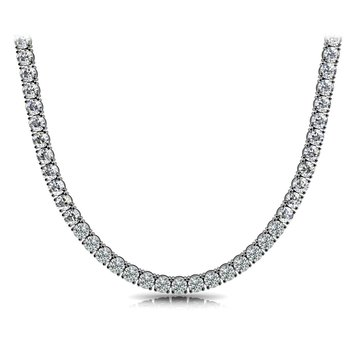 15.13 Cttw Diamond Tennis Necklace