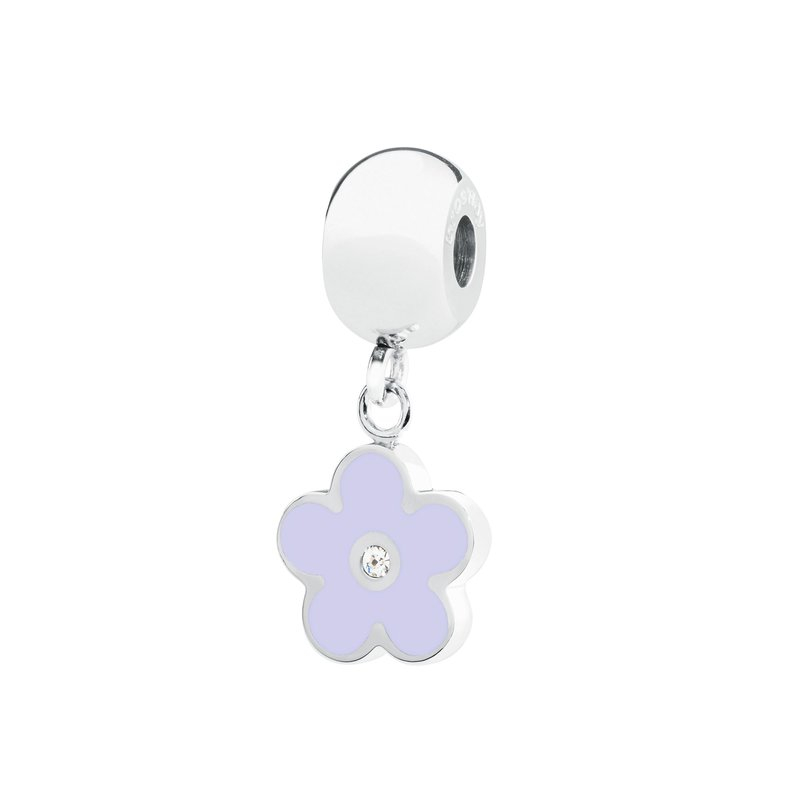Brosway 316L stainless steel light purple enamel and Swarovski® Elements white crystal.