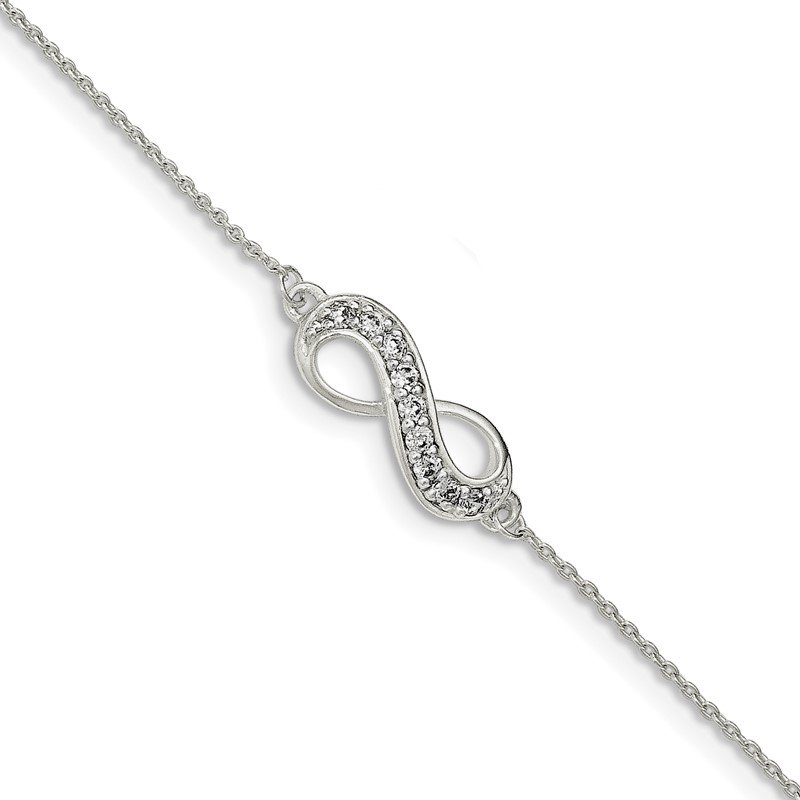 Lester Martin Online Collection Sterling Silver CZ w/.25 ext Infinity Bracelet