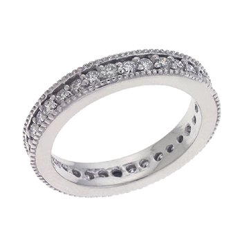 Milligrain Eternity Band