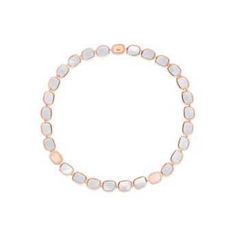 18Kt Gold Necklace With Diamonds And Mother Of Pearl