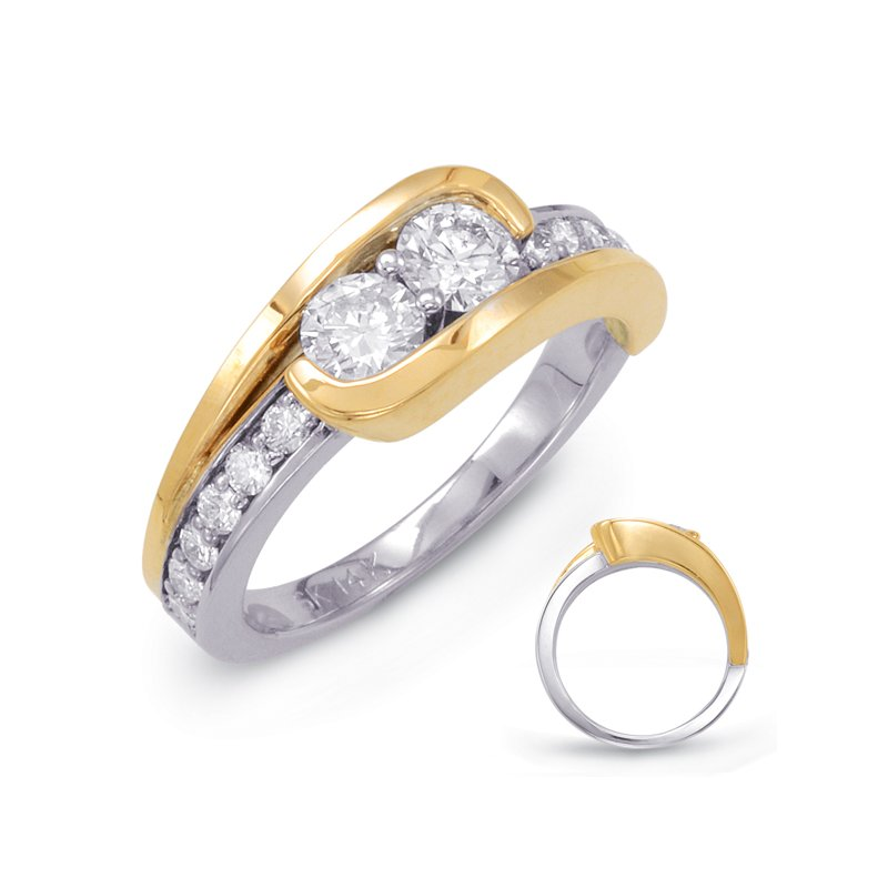 Briana White & Yellow Gold Two Stone