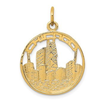 14k Chicago Skyline Charm