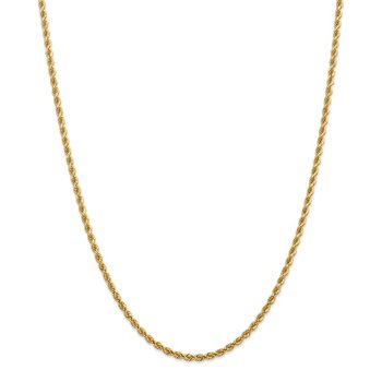 14k 2.75mm Diamond-cut Rope with Lobster Clasp Chain