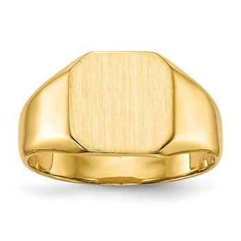 14k 9.5x9.5mm Closed Back Signet Ring