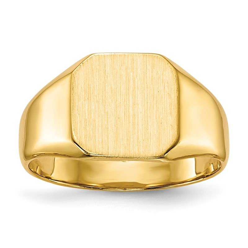 Quality Gold 14k 9.5x9.5mm Closed Back Signet Ring