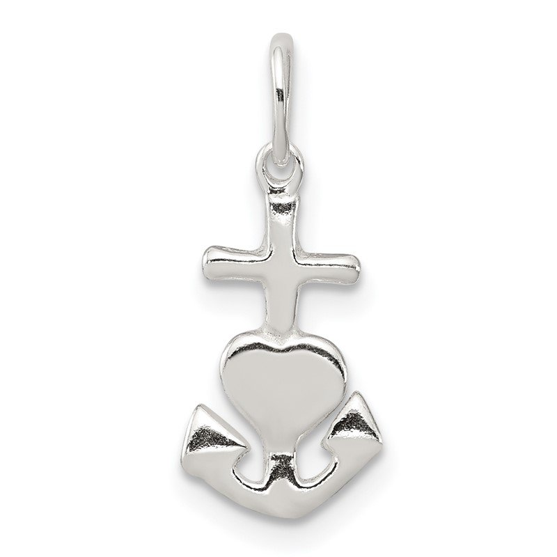 Quality Gold Sterling Silver Hope, Faith, and Charity Charm