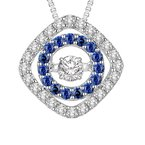Rhythm of Love 14K Sapphire & Diamond Rhythm Of Love Pendant