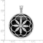 Quality Gold Sterling Silver Rhodium-plated D/C Onyx Pendant