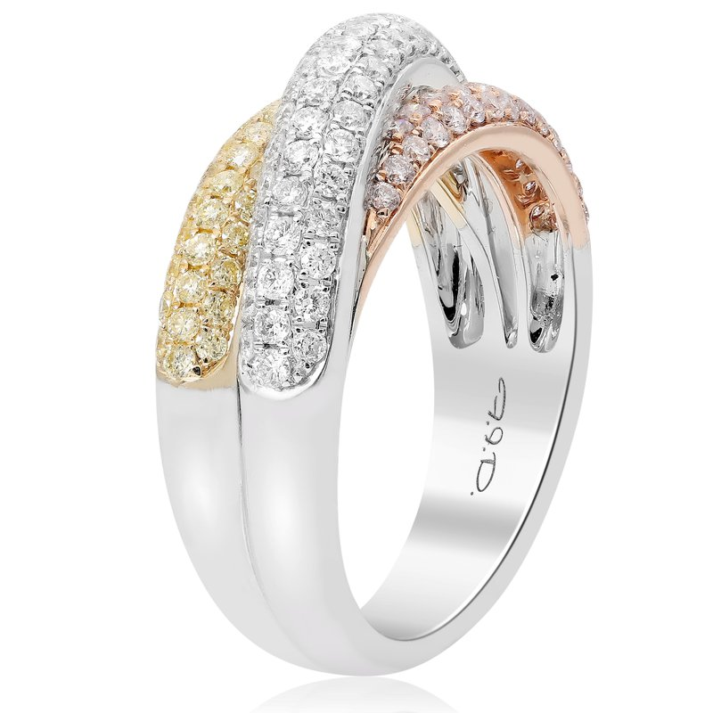 Roman & Jules Overlapping Colored Diamond Ring