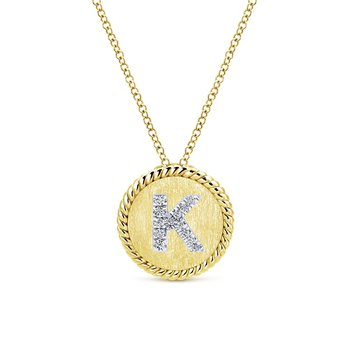 14K W/Y Gold Diamond Necklace