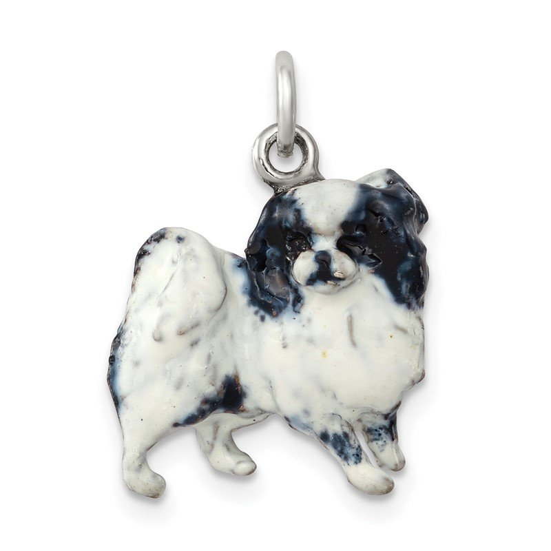 Quality Gold Silver Enamel Japanese Chin Charm