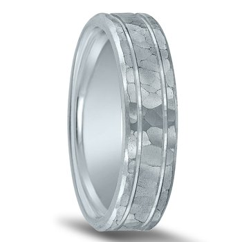 Trending Hammered Wedding Band N00118 by Novell