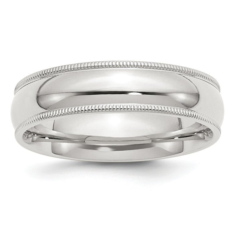 Quality Gold Sterling Silver 6mm Milgrain Comfort Fit Band