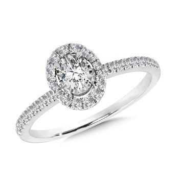 Diamond Star Oval Ring