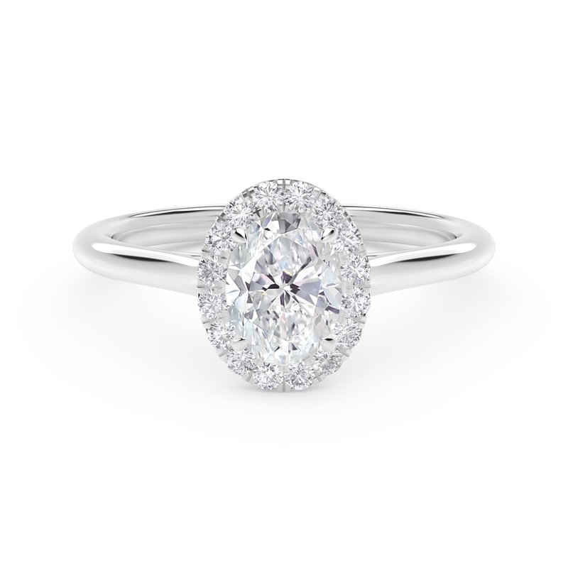 Forevermark Center of My Universe® Oval Halo Engagement Ring