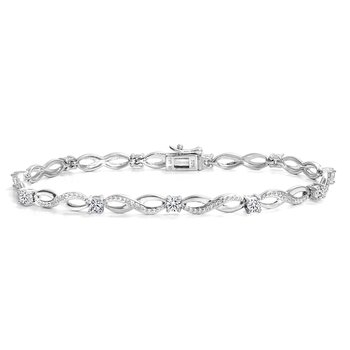 Twist Design Tennis Bracelet
