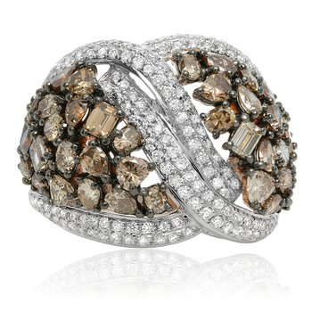 Twisted Champagne Diamond Ring