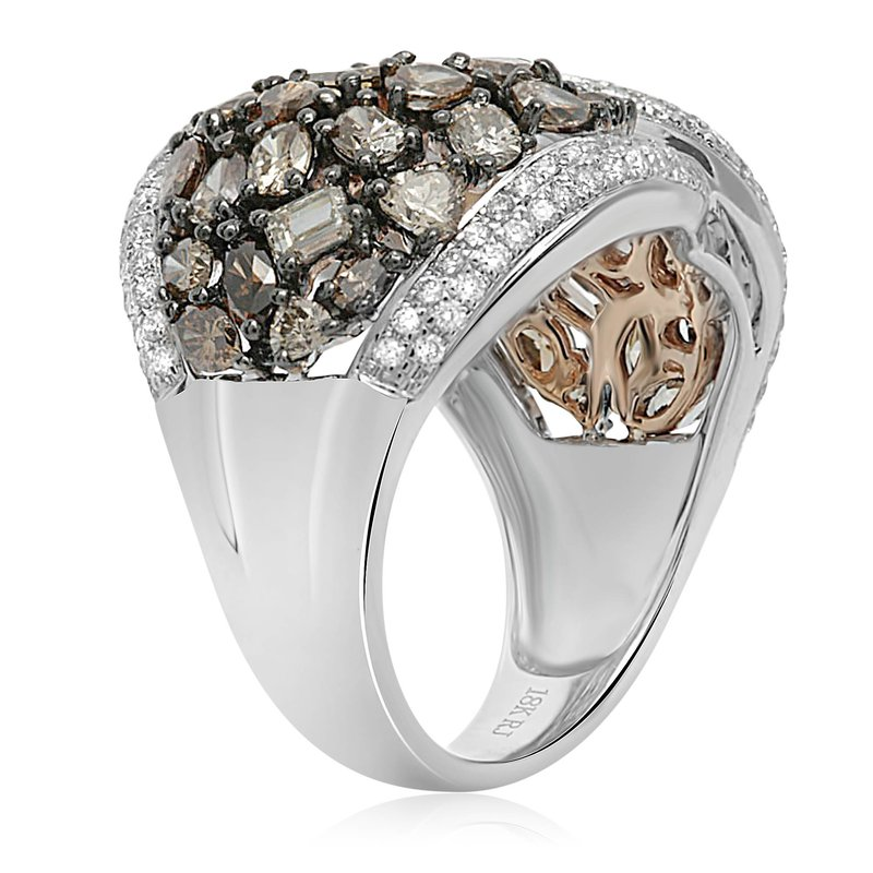 Roman & Jules Twisted Champagne Diamond Ring