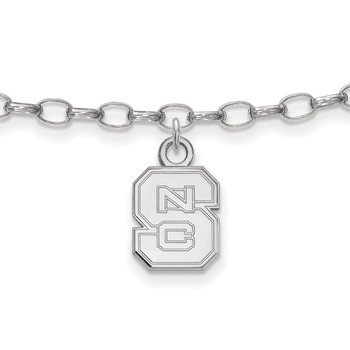 Sterling Silver North Carolina State University NCAA Bracelet