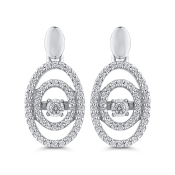1/3 ct Round White Diamond Fashion Earrings
